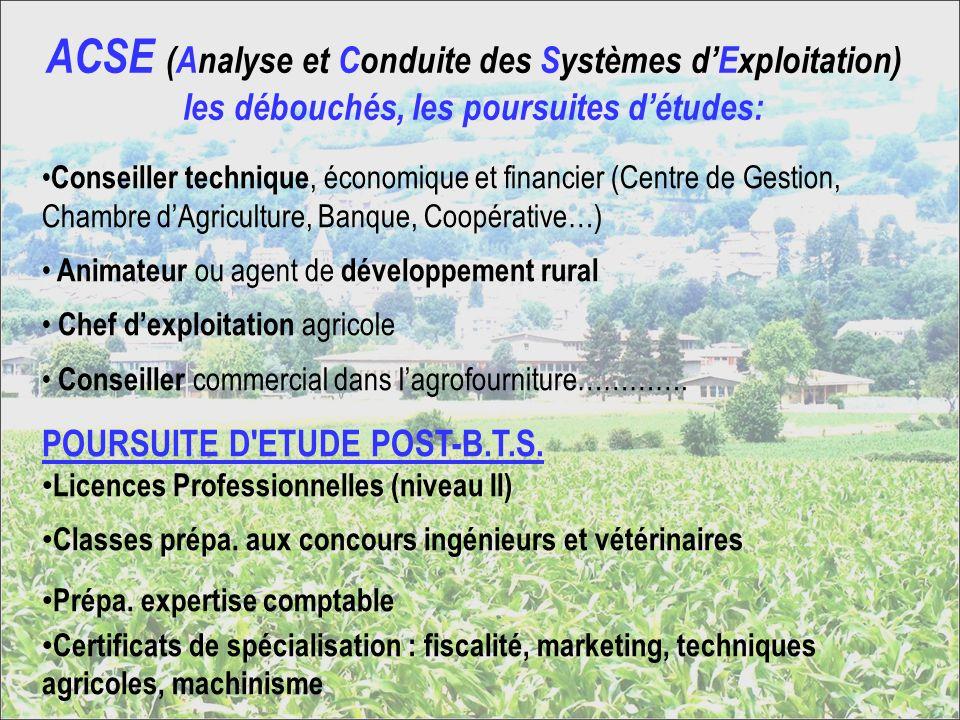 ACSE (Analyse et Conduite des Systèmes d'Exploitation) les débouchés, les poursuites d'études: