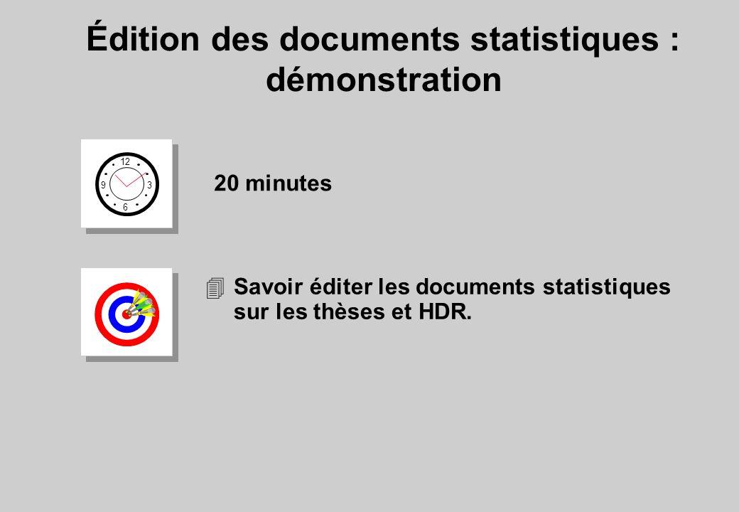 Édition des documents statistiques : démonstration