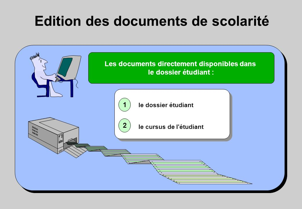 Edition des documents de scolarité