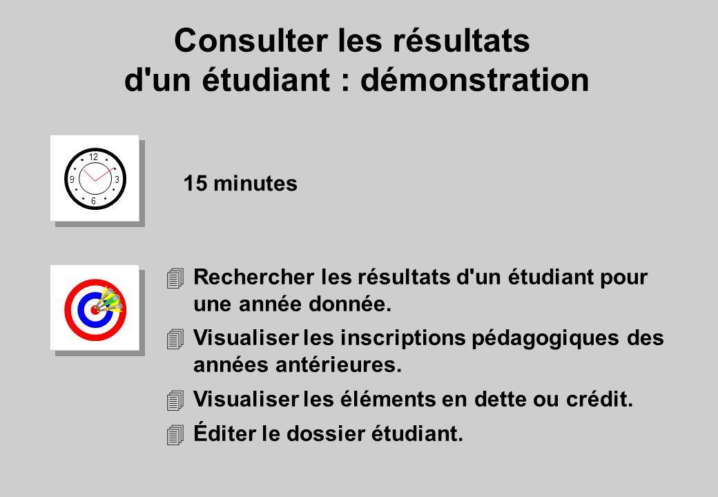 Consulter les résultats d un étudiant : démonstration
