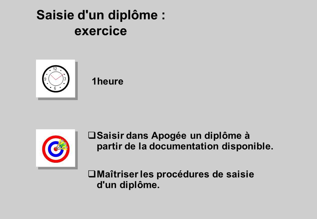 Saisie d un diplôme : exercice