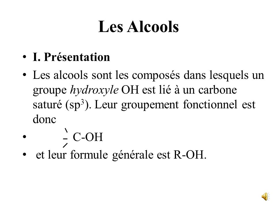Les Alcools I. Présentation