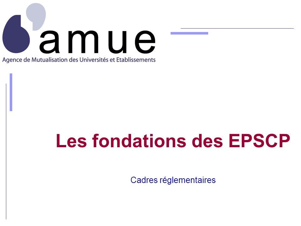 Les fondations des EPSCP