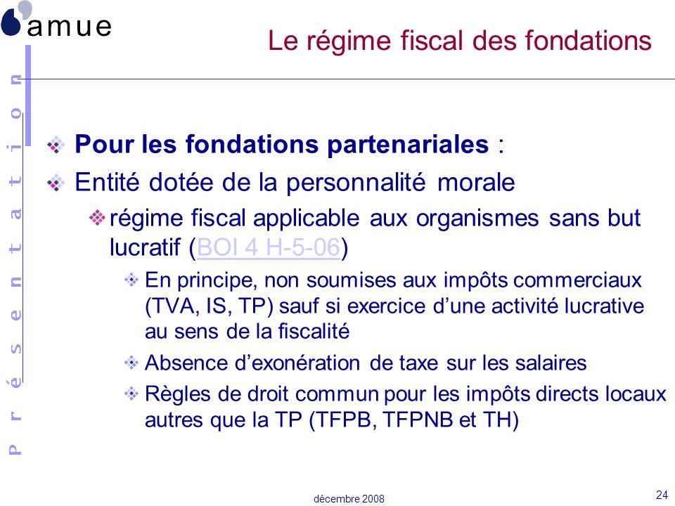 Le régime fiscal des fondations