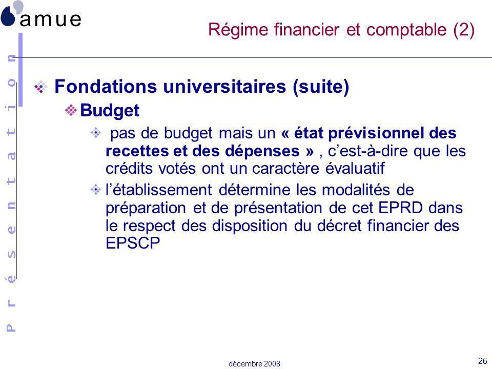Régime financier et comptable (2)