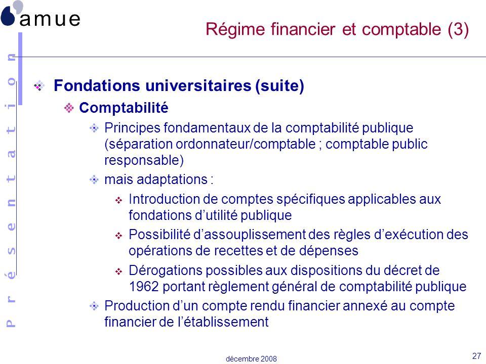 Régime financier et comptable (3)