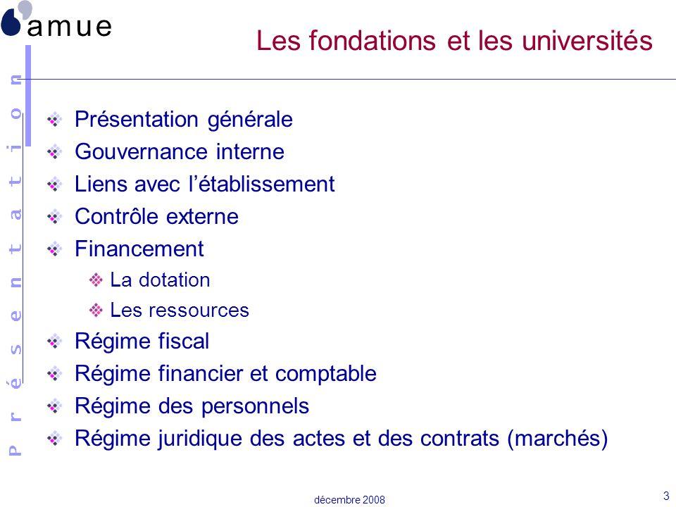 Les fondations et les universités