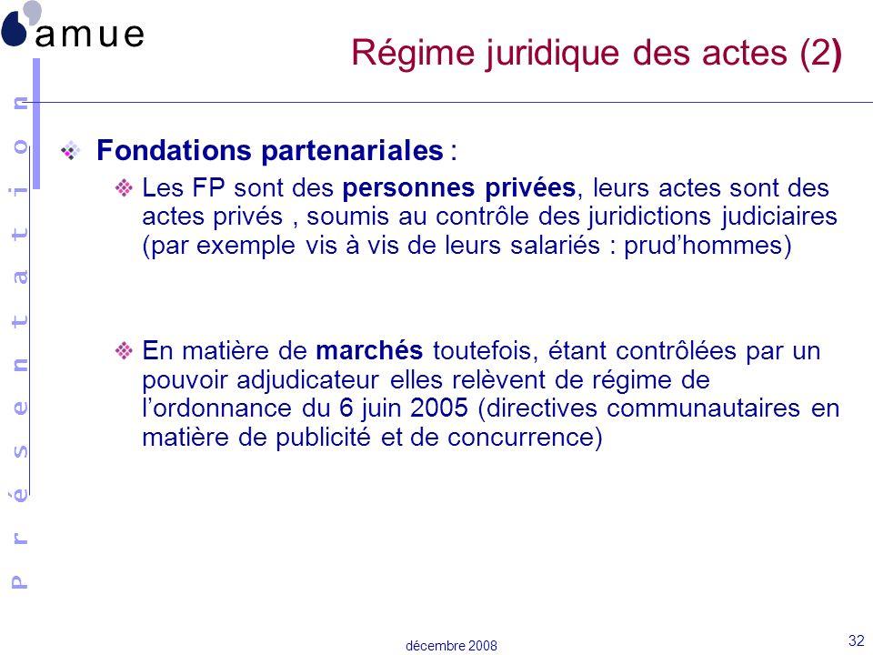 Régime juridique des actes (2)