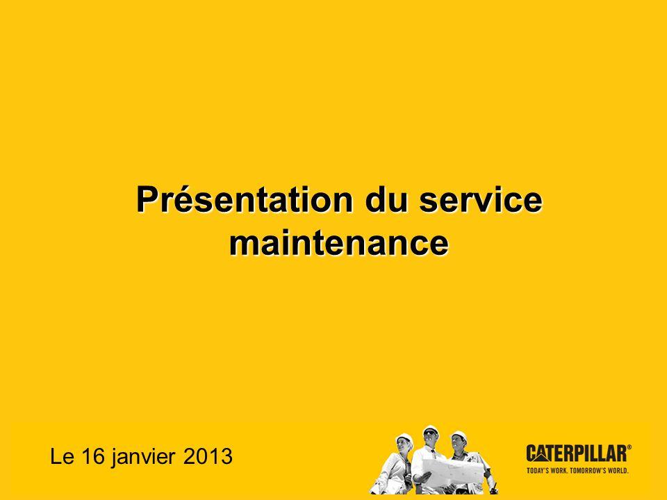 Présentation du service maintenance