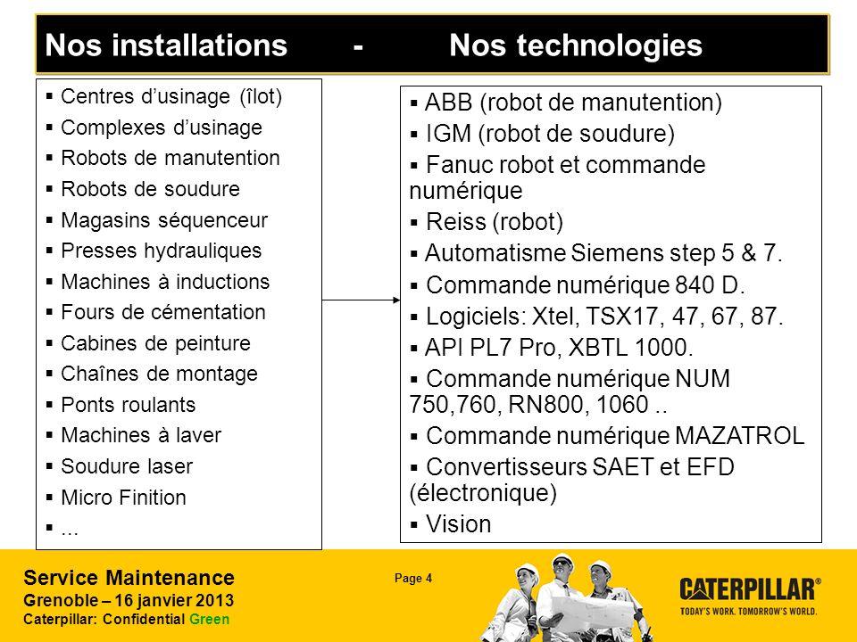 Nos installations - Nos technologies