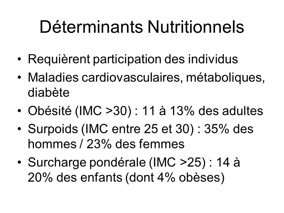 Déterminants Nutritionnels