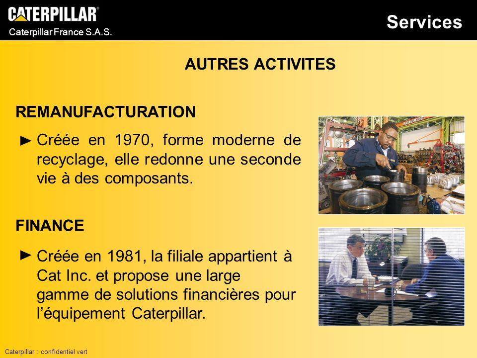 Services AUTRES ACTIVITES REMANUFACTURATION