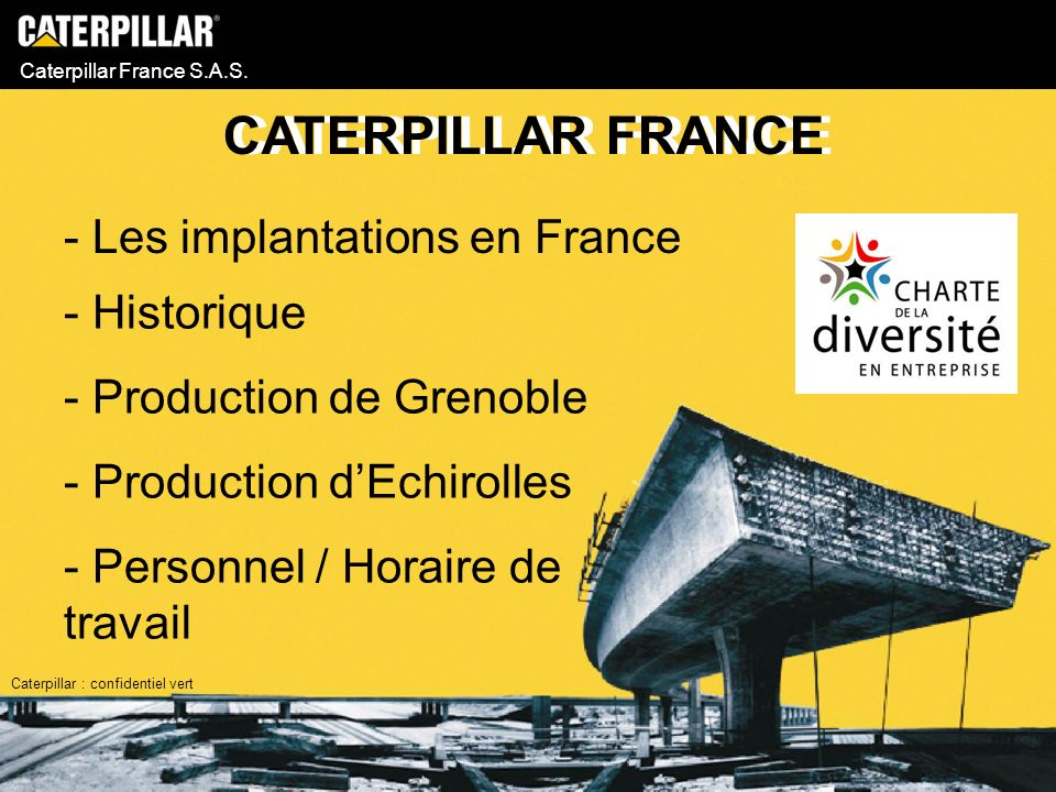 CATERPILLAR FRANCE - Les implantations en France Historique