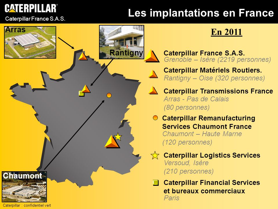 Les implantations en France