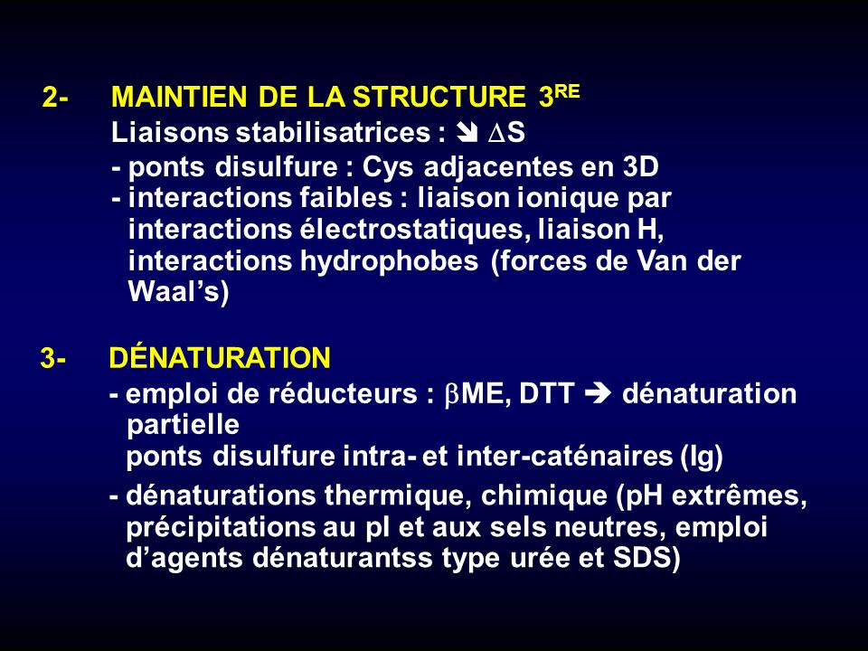 2- MAINTIEN DE LA STRUCTURE 3RE