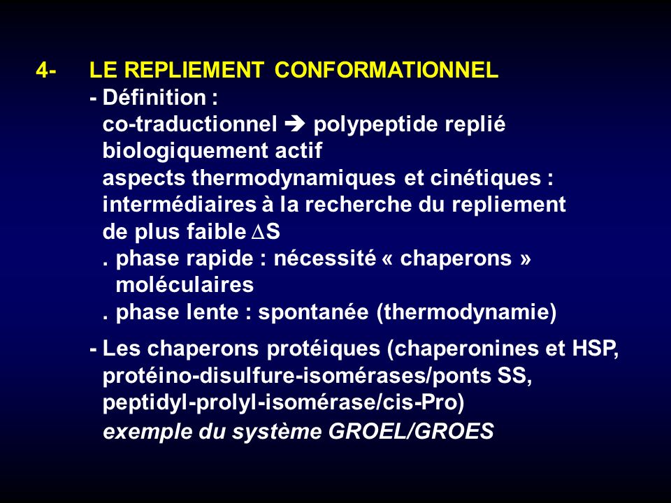 4- LE REPLIEMENT CONFORMATIONNEL