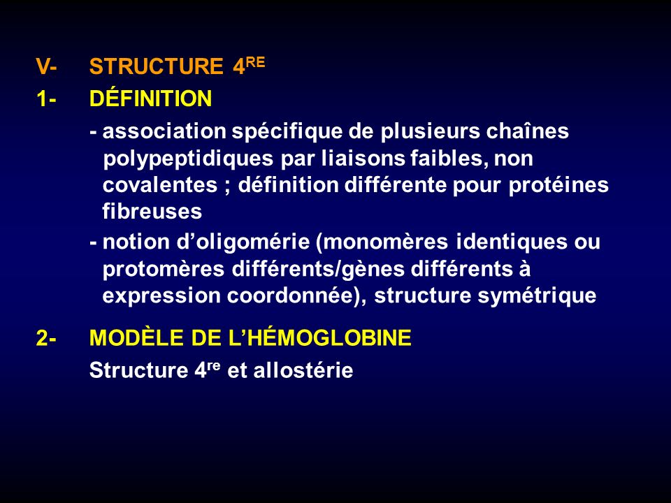 V- STRUCTURE 4RE 1- DÉFINITION.