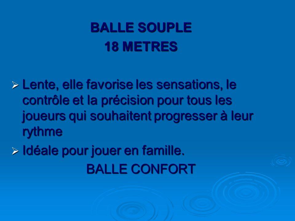 BALLE SOUPLE 18 METRES.