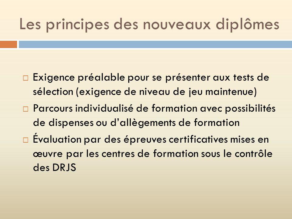 Les principes des nouveaux diplômes