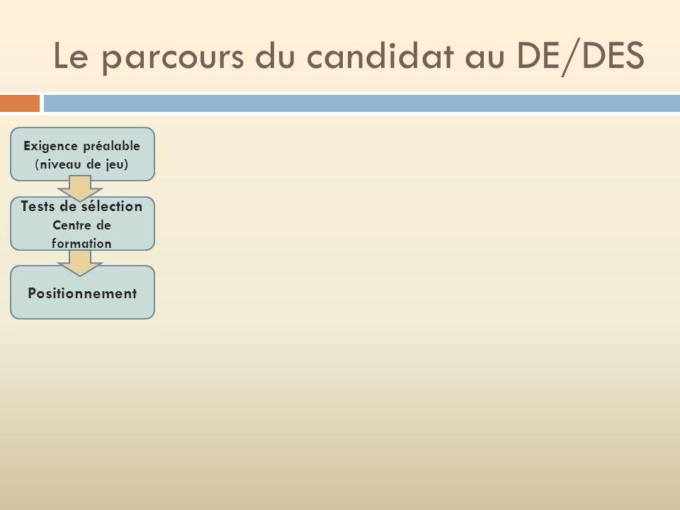 Le parcours du candidat au DE/DES