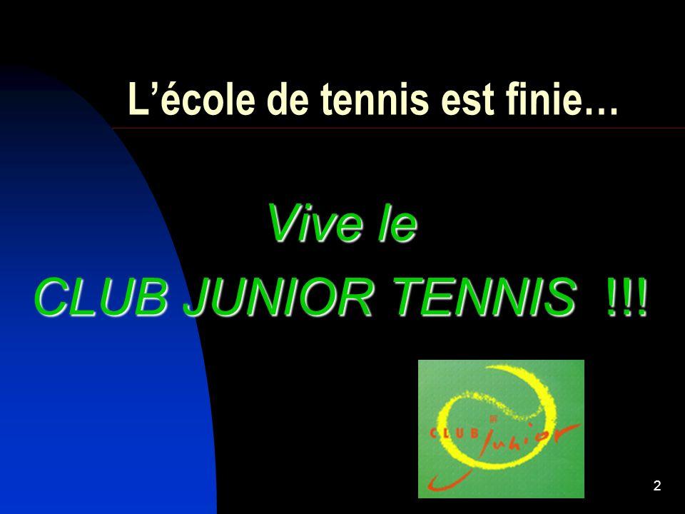 L'école de tennis est finie…