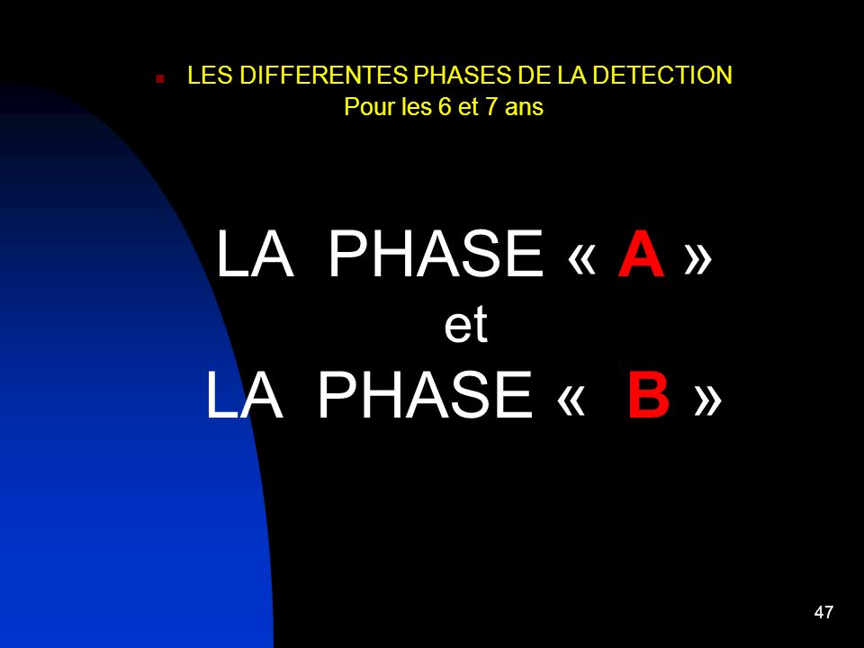LES DIFFERENTES PHASES DE LA DETECTION