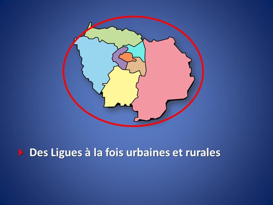  Des Ligues à la fois urbaines et rurales