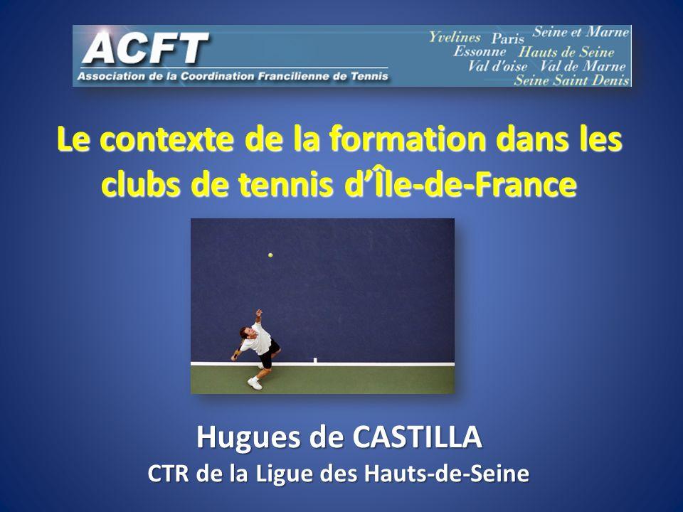 Le contexte de la formation dans les clubs de tennis d'Île-de-France