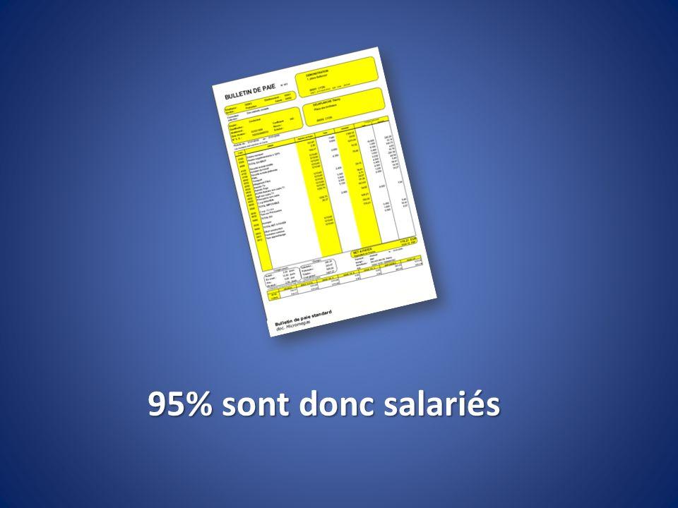 95% sont donc salariés