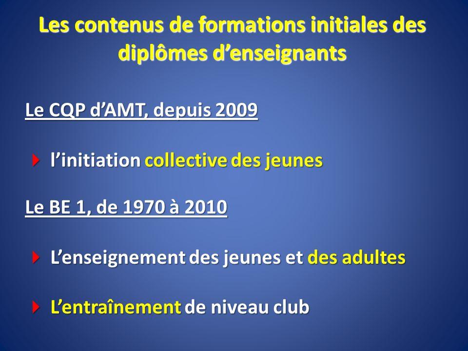 Les contenus de formations initiales des diplômes d'enseignants