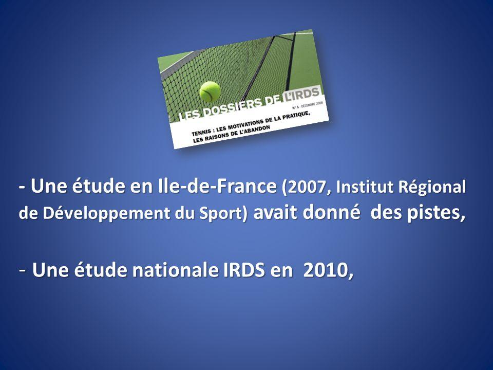 Une étude nationale IRDS en 2010,