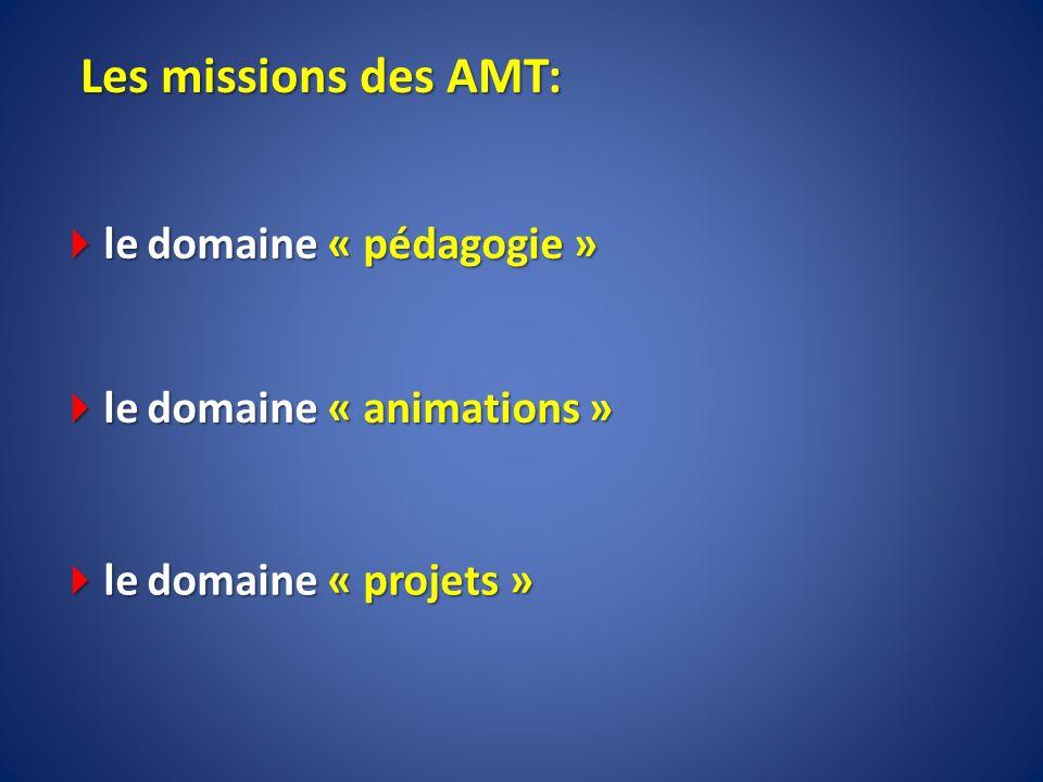 Les missions des AMT: le domaine « pédagogie »