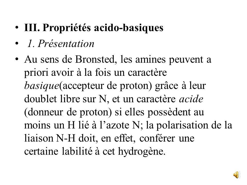 III. Propriétés acido-basiques