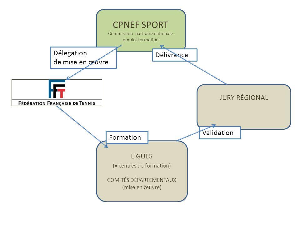 CPNEF SPORT Délégation Délivrance de mise en œuvre JURY RÉGIONAL