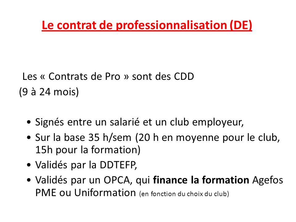 Le contrat de professionnalisation (DE)