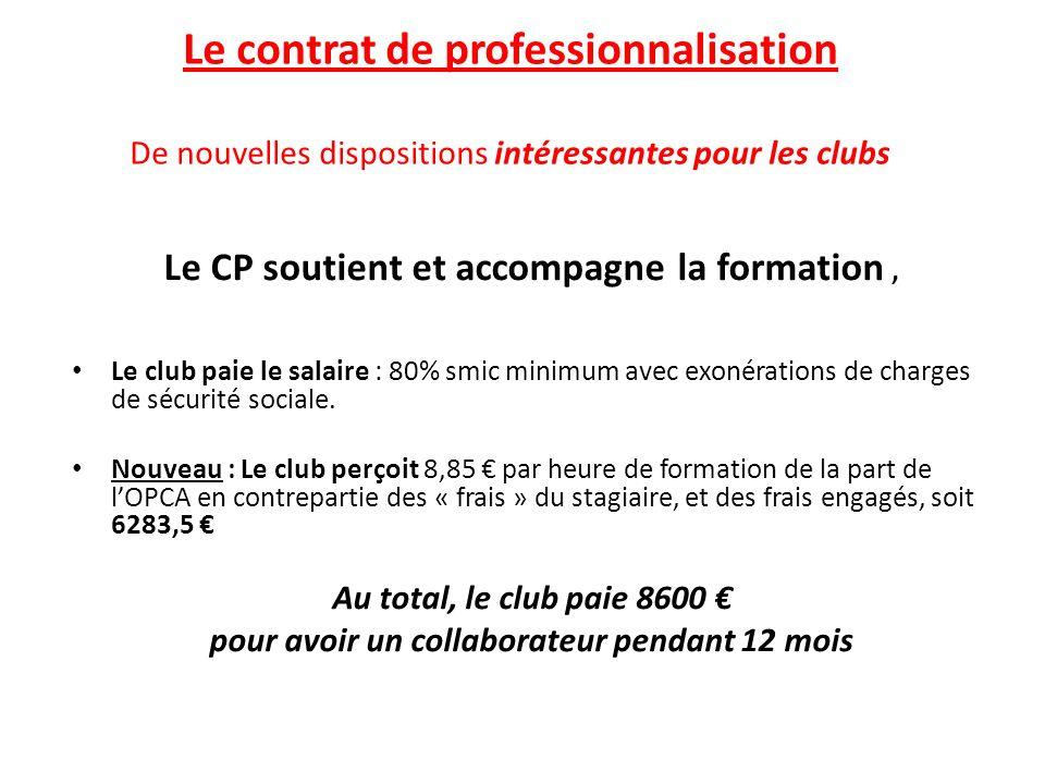 Le contrat de professionnalisation De nouvelles dispositions intéressantes pour les clubs