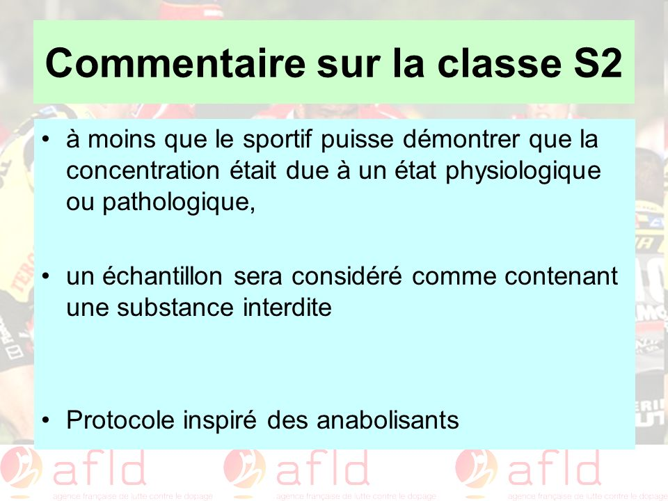 Commentaire sur la classe S2