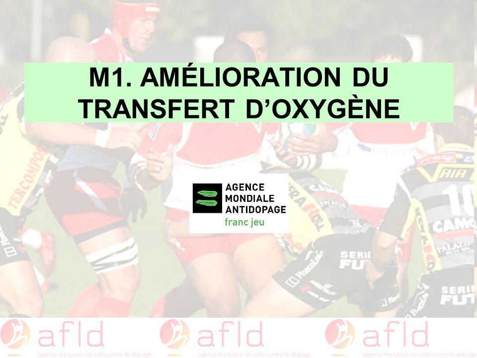 M1. AMÉLIORATION DU TRANSFERT D'OXYGÈNE