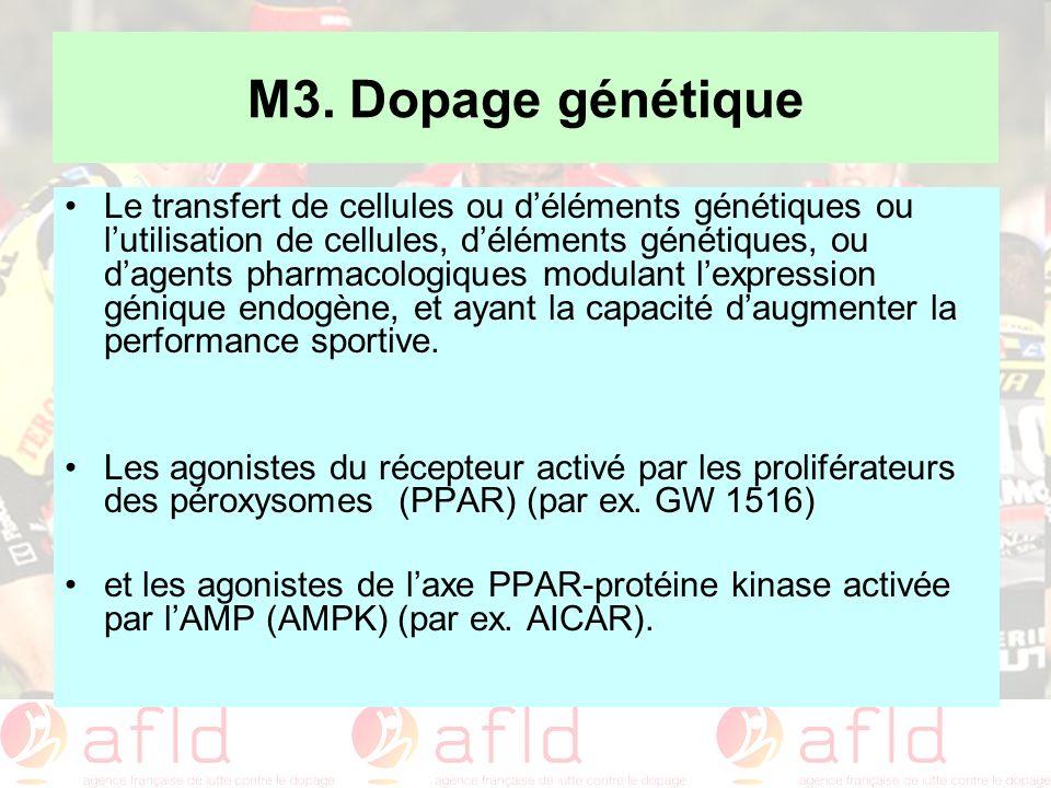M3. Dopage génétique