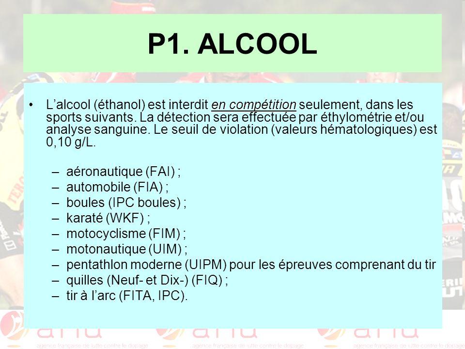 P1. ALCOOL