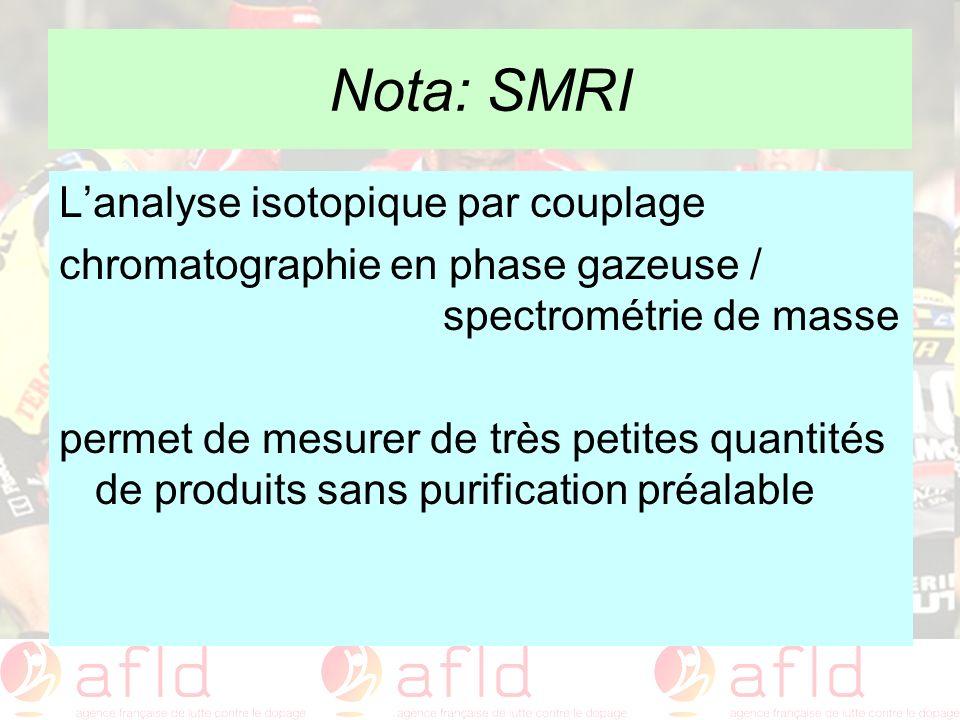 Nota: SMRI L'analyse isotopique par couplage