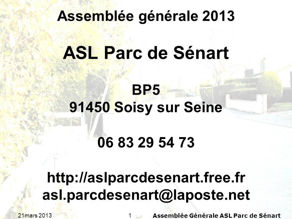 Assemblée Générale ASL Parc de Sénart