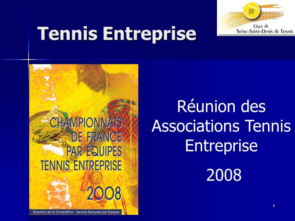 Réunion des Associations Tennis Entreprise