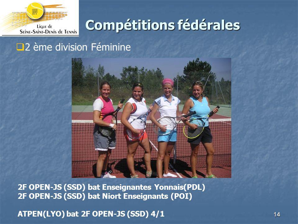 Compétitions fédérales