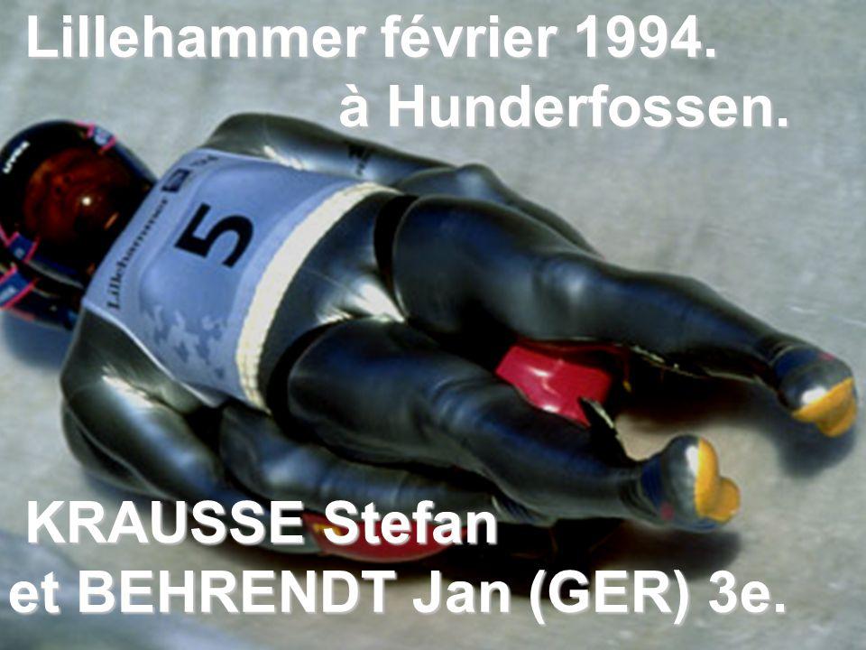 Lillehammer février 1994. à Hunderfossen. KRAUSSE Stefan et BEHRENDT Jan (GER) 3e.
