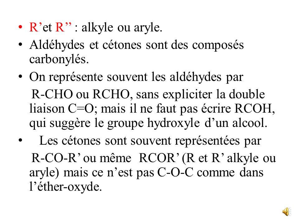 R'et R'' : alkyle ou aryle.