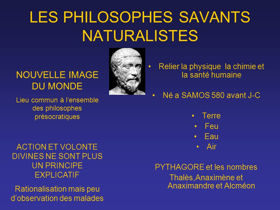 LES PHILOSOPHES SAVANTS NATURALISTES