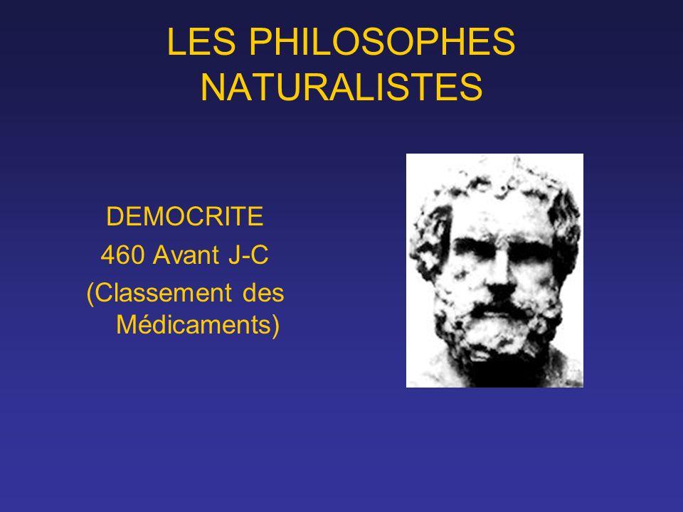 LES PHILOSOPHES NATURALISTES
