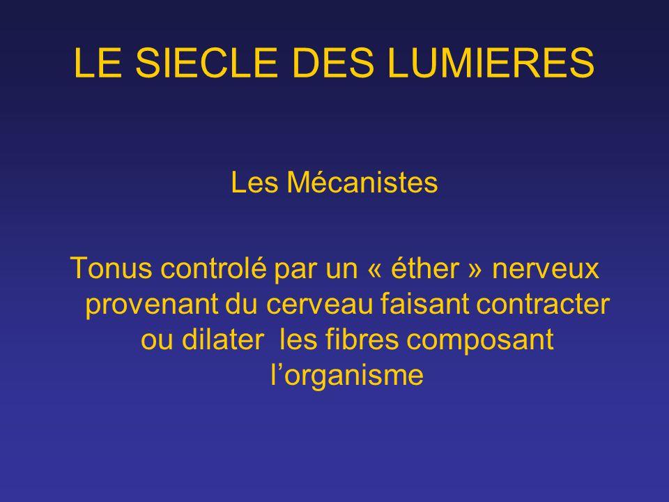 LE SIECLE DES LUMIERES Les Mécanistes