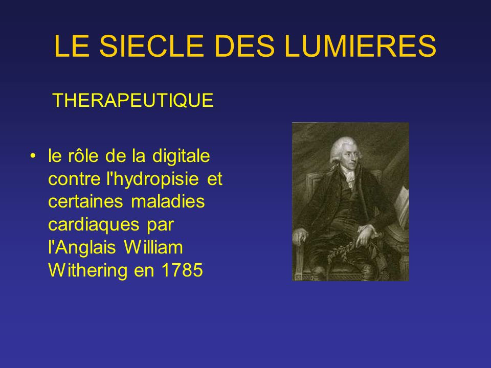 LE SIECLE DES LUMIERES THERAPEUTIQUE